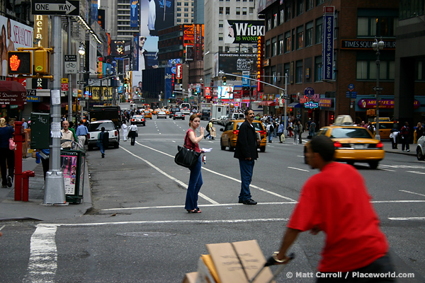 street scene on Broadway in New York