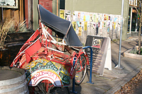 Rickshaw as sculpture