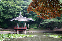 Pondside pavillion at Changdeokgung