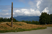 Totem pole at UBC Museum of Anthropology